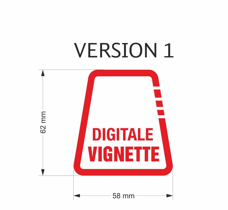 Aufkleber Digitale Vignette Rot Variante 1 Folienbuchstaben In Verschiedenen Farben